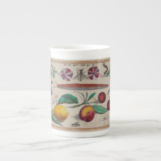 Antique prints from Europe flowers Tea Cup