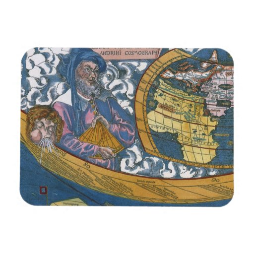 Antique Ptolemaic World Map; Claudius Ptolemy Flexible Magnets