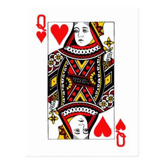 Antique Queen of Heart Postcard