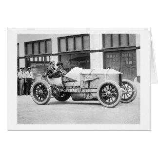 Antique Race Car, 1910s Card