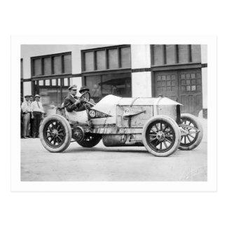 Antique Race Car, 1910s Postcard