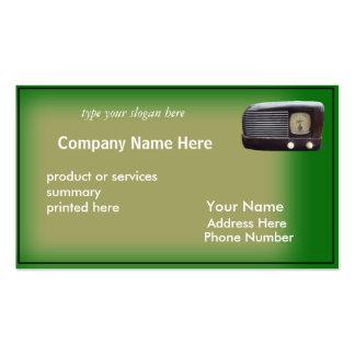 Antique Radio Card-customize Business Cards
