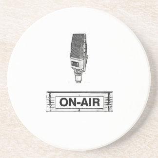 Antique Radio Mic On-Air Light Coaster