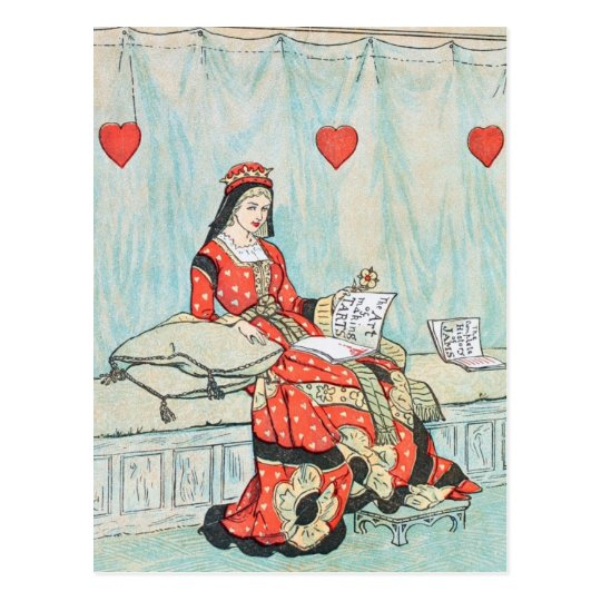Antique Randolph Caldecott Queen of Hearts Print Postcard