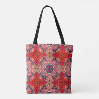 Antique Red Crosses Abstract Bag