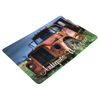 Antique Red International Pickup Truck Floor Mat