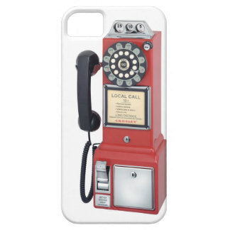 Antique Red Pay Phone Iphone Case