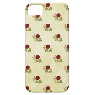 Antique Red Rose Pattern on Parchment iPhone 5 Covers