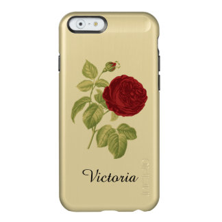 Antique Red Rose Personalized Victorian Incipio Feather® Shine iPhone 6 Case