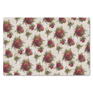 Antique Red Rose Wallpaper Tissue Paper