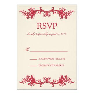 ANTIQUE RED | RSVP 9 CM X 13 CM INVITATION CARD