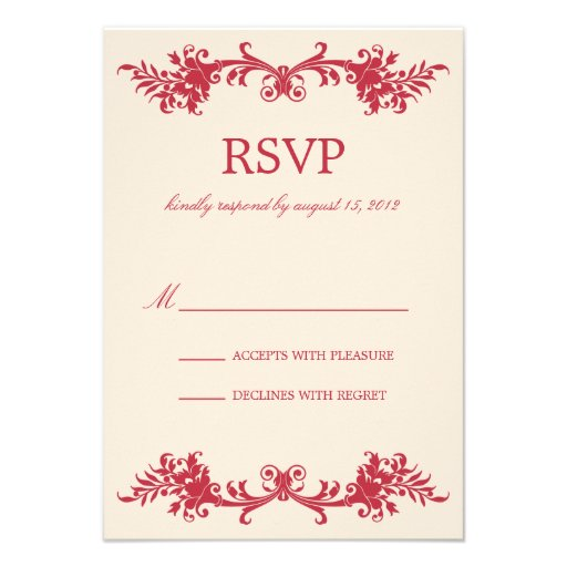 ANTIQUE RED | RSVP PERSONALIZED INVITATION