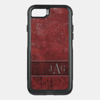 Antique Red Textured Design OtterBox Commuter iPhone 8/7 Case