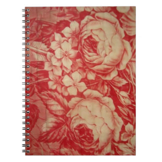 Antique Red Toile Notebooks
