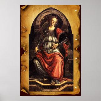 ANTIQUE RENAISSANCE TAROTS 11/ FORTITUDE Parchment Posters