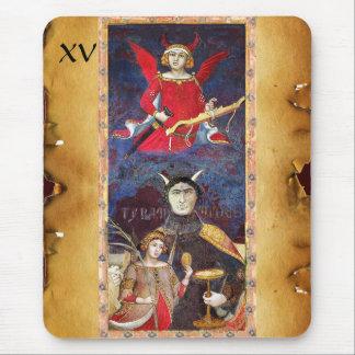 ANTIQUE RENAISSANCE TAROTS 15 /THE DEVIL MOUSE PAD