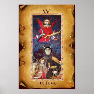 ANTIQUE RENAISSANCE TAROTS  15 / THE DEVIL POSTER