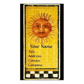 ANTIQUE RENAISSANCE TAROTS /THE SUN AND TEMPERANCE PACK OF STANDARD BUSINESS CARDS