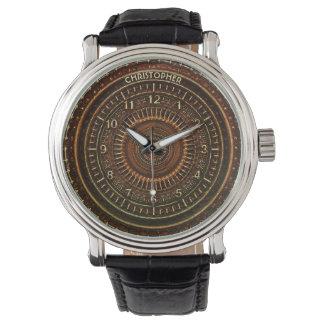 Antique Retro Steampunk Rusty Art Deco Clock Wrist Watch