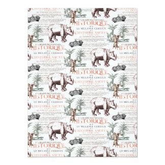 Antique Rhinoceros Rhino Abrecht Durer Style Card