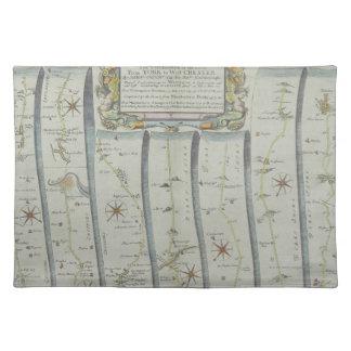 Antique Road Map Placemat