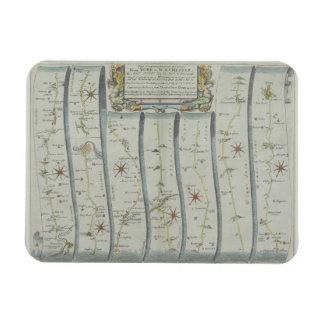 Antique Road Map Flexible Magnets