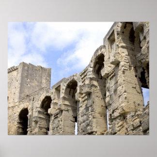 Antique Roman amphitheater's in Arles, 2 Poster