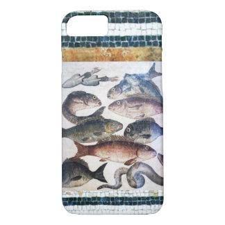 ANTIQUE ROMAN MOSAICS, FISHES,OCEAN SEA LIFE SCENE iPhone 7 CASE