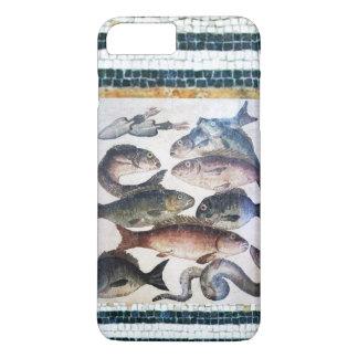 ANTIQUE ROMAN MOSAICS, FISHES,OCEAN SEA LIFE SCENE iPhone 7 PLUS CASE