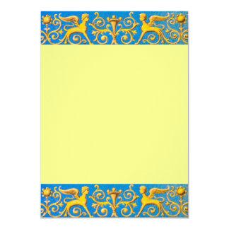 Antique roman pattern 13 cm x 18 cm invitation card