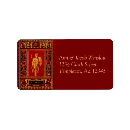 Antique Roman Soldier Address Labels