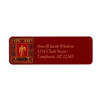 Antique Roman Soldier Return Address Labels
