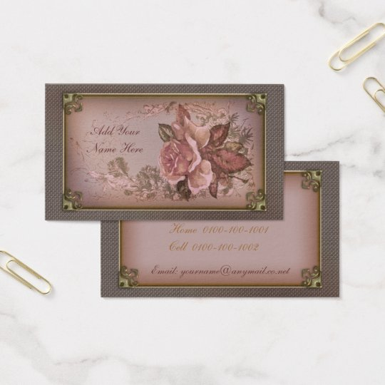 Antique Rose (new pink edition) Business Card