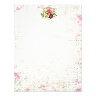 Antique Rose Scrapbooking/Stationary paper 21.5 Cm X 28 Cm Flyer