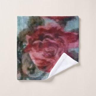 Antique Rose Washcloth Wash Cloth