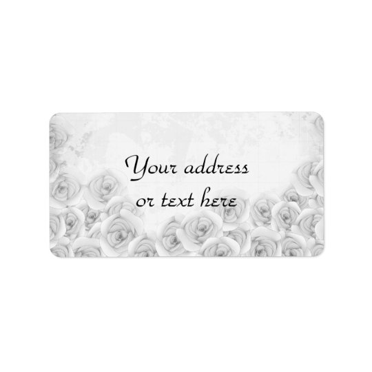Antique roses address labels for your text