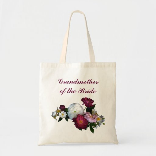 Antique Roses Grandmother of the Bride Canvas Bags