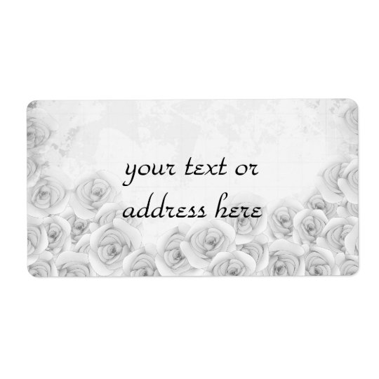 Antique roses large labels