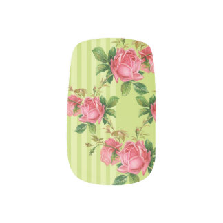 Antique Roses Minx Nail Coverings Nail Sticker