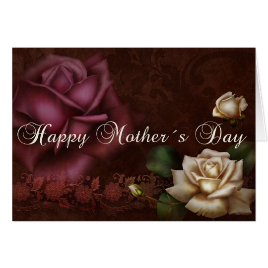 Antique Roses Mother´s Day Card
