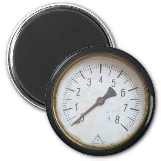 Antique Round Pressure Metre Gauge Fridge Magnet