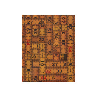 Antique Ruler Measured Pattern Canvas Prints
