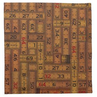 Antique Ruler Measured Pattern Napkin