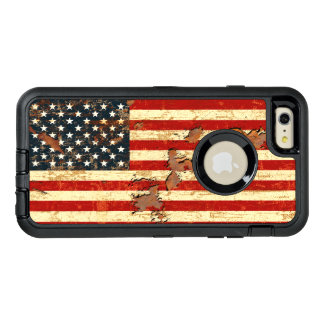 Antique Rusted American Flag USA OtterBox iPhone 6/6s Plus Case