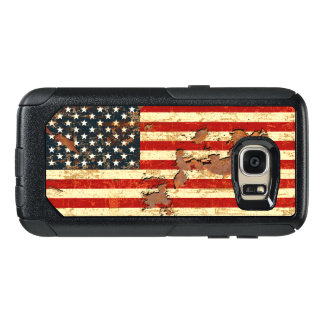 Antique Rusted American Flag USA OtterBox Samsung Galaxy S7 Case