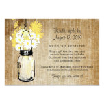 Antique Rustic Mason Jar Daisies Wildflowers 9 Cm X 13 Cm Invitation Card