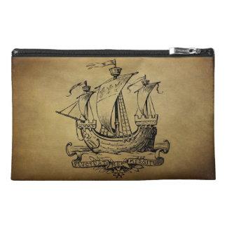 Antique Sailing Ship Travel Accessory Bag