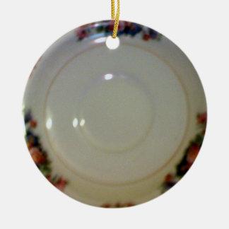 Antique Saucer Round Ceramic Decoration
