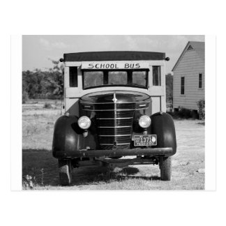 Antique School Bus, Greensboro, Georgia, 1941 Postcard