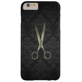 Antique Scissor Black Damask Barely There iPhone 6 Plus Case